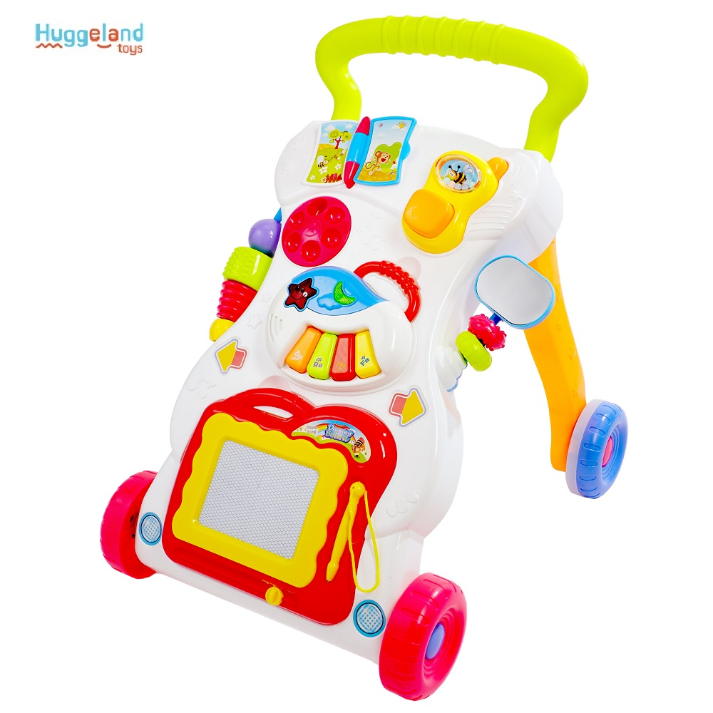 Walkers Huggeland 343287 for boys and girls learning to walk baby walkers game center wheelchair-Walker stretcher Plastic