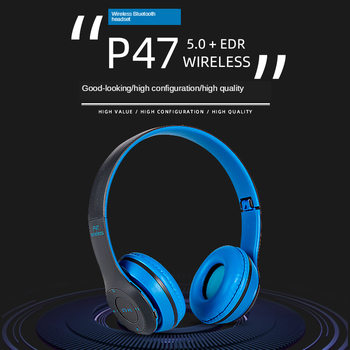 цена на P47 Wireless Headphones Bluetooth Headset Foldable Stereo Gaming Earphones With Microphone Support TF Card For IPad Mobile Phone