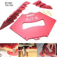 11 Pc/set Router Table Corner Jig Templates R5 R40/T10 T40 Radius Chamfer Profile Template Kits Woodworking Trimming Tool Set