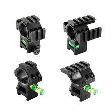 Оптическое крепление для оптического прицела 25,4 мм/30 мм кольцевое крепление с пузырьковым уровнем подходит для 20 мм планки Пикатинни для та...