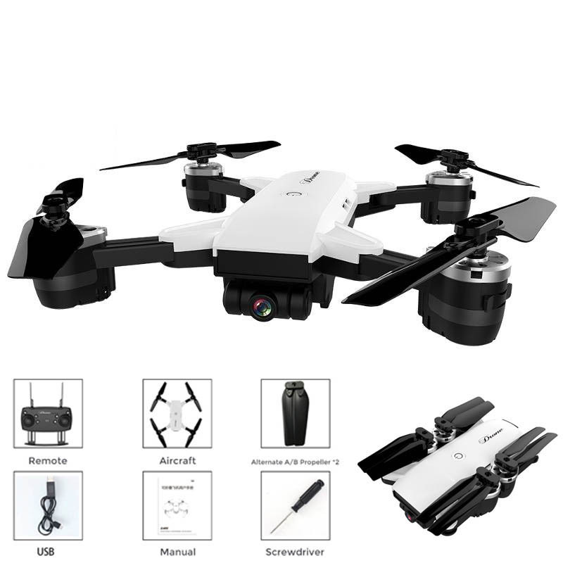 YH19HW 0.3 Million WiFi Real-Time Transmission Folding Quadcopter Unmanned Aerial Vehicle Set High Mini Handheld Airplane