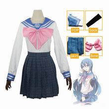 Costume de Cosplay pour femmes, uniforme scolaire, robe, jupe, ensemble marin, dessin animé Danganronpa Maizono Sayaka