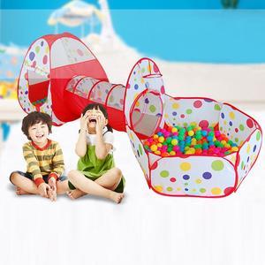 Image 2 - Tienda de campaña grande para niños, Teepee de tubo de piscina, PISCINA DE BOLAS para niños, Pit plegable, tubería para gateo, casa de juego