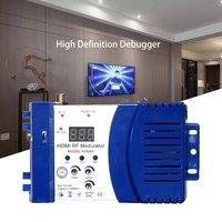 """vhf uhf HDM68 אפנן Digital RF HDMI אפנן AV ל- RF ממיר VHF UHF PAL / NTSC תקן אפנן ניידת עבור כחול ארה""""ב (1)"""