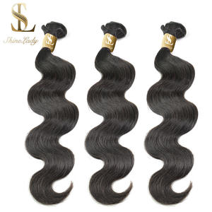 Hair Weave Bundles Human-Hair-Extension Remy Brazilian Natural-Color 34 30-32 1/3/4pcs