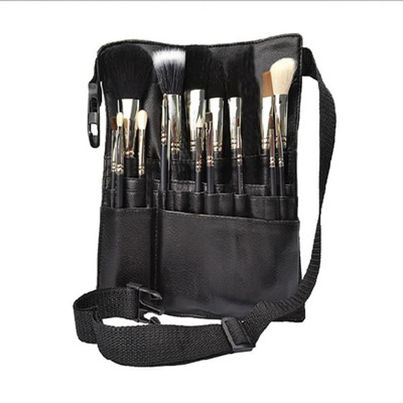 Makeup Brushes Holder PU Leather Apron Bag Put 20-24P Makeup Brushes Women Make Up Tool Brushes Professional Women Make Up Bags