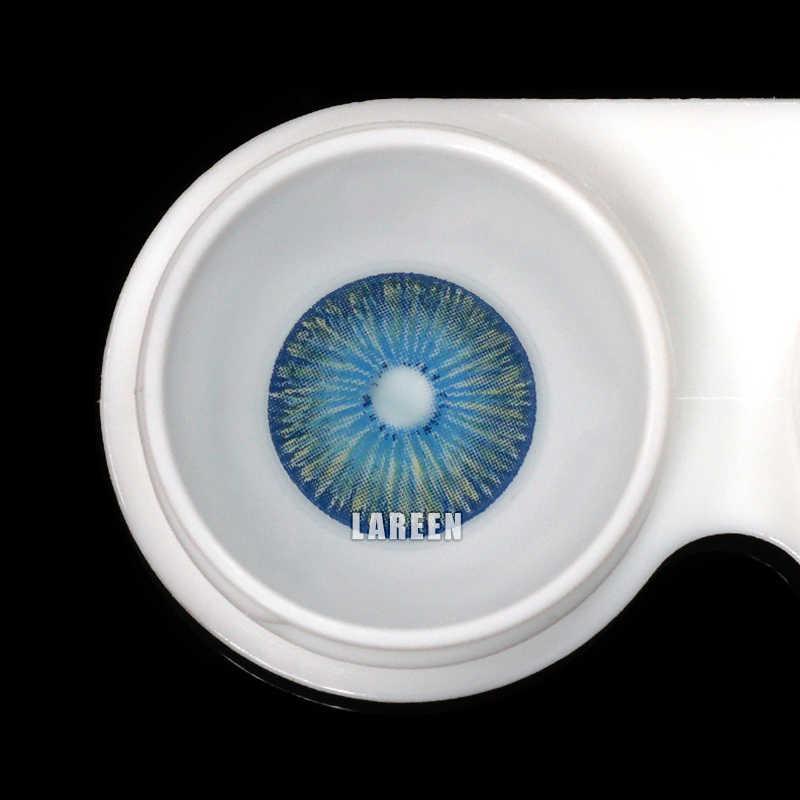 LAREEN 2 sztuk/para kolorowe soczewki kontaktowe New York Series oko małe uczniowie soczewki kontaktowe kosmetyczne kolorowe soczewki kontaktowe do oczu