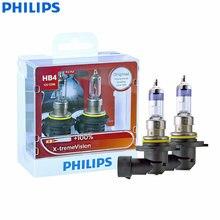 Philips-faros antiniebla para coche x-treme Vision 9006 HB4 12V 55W P22d 9006XVS2 + 100%, luz halógena, paquete doble
