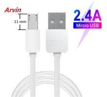 Câble de chargeur Micro USB 11MM connecteur Micro-usb Extra Long pour Leagoo M13/B13/M9/M8 Pro/T8 Power DOOGEE N10 HOMTOM charge(China)
