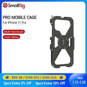 Image 1 - Smallrig pro gaiola móvel para iphone 11 pro vlogging acessório gaiola do telefone móvel com sapata fria montagem vlog jogo de tiro 2471