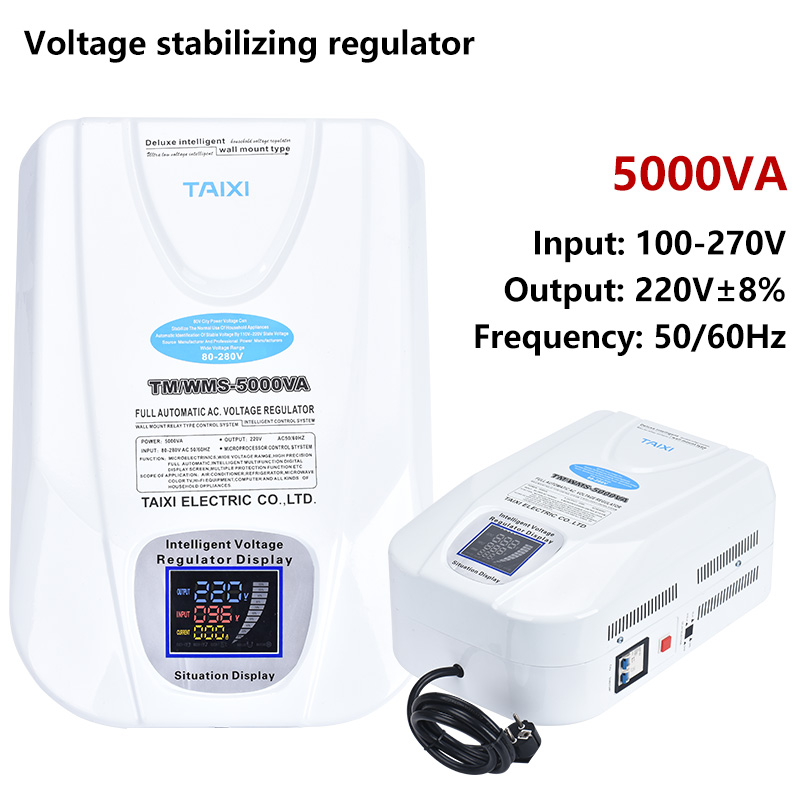 <font><b>Voltage</b></font> stability <font><b>regulator</b></font> <font><b>AC</b></font> 100V110V to <font><b>220V</b></font> 230V Air conditionerpower Under to high 5000VA/5000W Automatic image