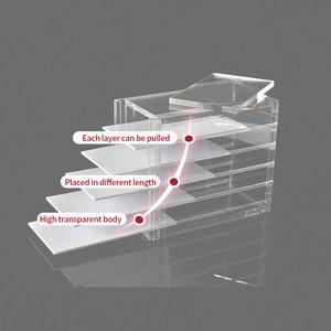 Image 4 - NATUHANA 거짓 속눈썹 확장 디스플레이 스탠드 아크릴 5 레이어 팔레트 래쉬 디스플레이 홀더 속눈썹 보관 상자 컨테이너