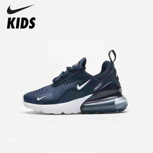 Nike Air Max 270 (gs) Original New Arrival Kids Shoes Breathable Running Outdoor Comfortable Sports Sneakers #943345-400