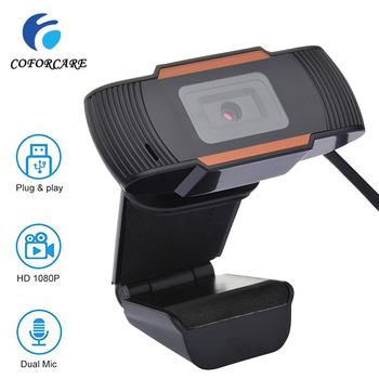 COFORCARE USB Webcam HD 1080P PC Camera with Dual Microphone MIC Auto Focus for Skype for Android TV Computer Camera USB Web Cam coforcare 1080p hd webcam usb hd pc camera dual microphone mic for skype for android tv computer ip camera usb web cam
