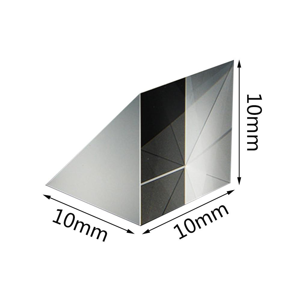 Optical Glass Triangular Prisms Right Angle Isosceles Prisms Lens H-K9 Glass Material For Instrumentation Image Tester Projector
