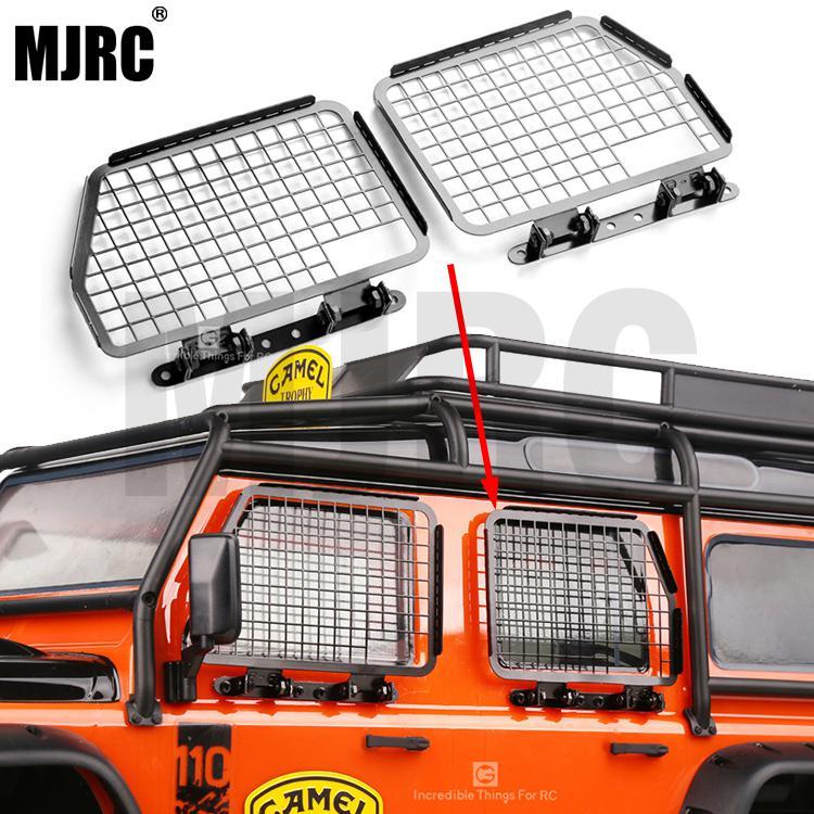 4pcs Metal Foldable Car Window Protective Net For 1/10 Rc Crawler Car Defender Traxxas Trx4 TRX-4 Window Guard Net Guardrai
