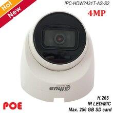 Dahua nouvelle caméra IP POE Lite 4MP H.265 + prise en charge de la micro à LED IR intégrée 256 GB mode de Rotation de la carte SD IPC-HDW2431T-AS-S2 caméra de sécurité