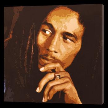 100%Handmade Bob Marley Pop Art Style Oil Painting