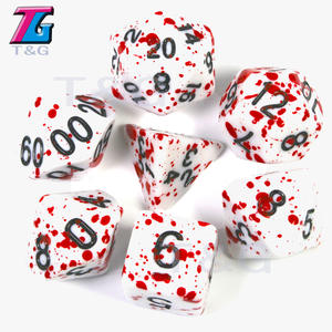 Dice-Pop Trpg-Games Dungeons Dragons Polyhedral Multi-Sides for Opaque D4-D20 7pcs/Set