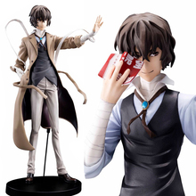 Brand New 26cm Dazai Osamu Anime Figure Stray Dogs PVC Collectible Anime Action Figure Toy Figurine 2 Looks Changeable Boy Toys
