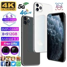 100% Original Global Version X20Pro SmartPhone 6.5inch 4G/5G Face Unlock 12GB+512GB large Screen 10-core Mobile Phone