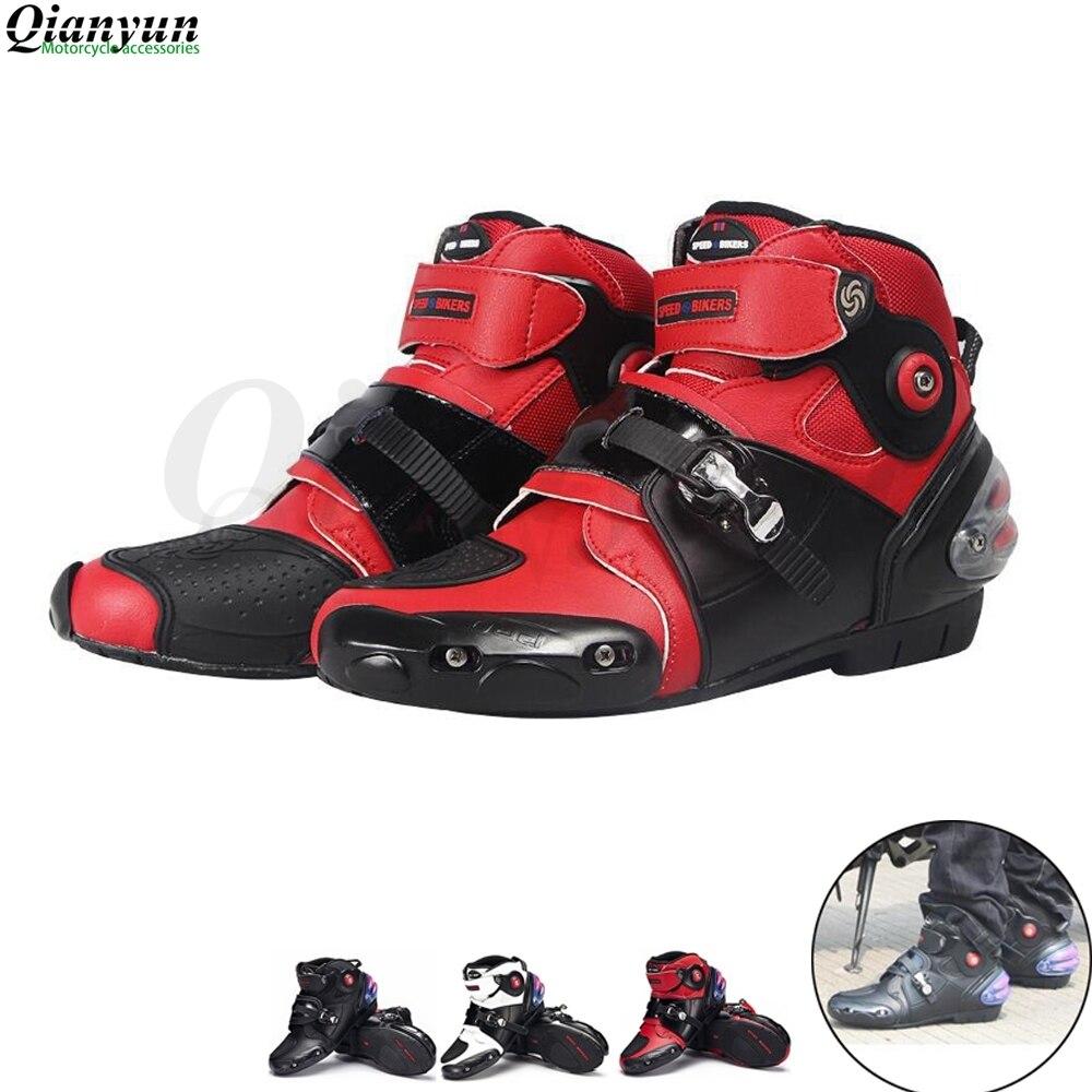 Hommes Profession moto bottes cheville motocross bottes de course microfibre cuir hors route bateaux à moteur chaussures de moto