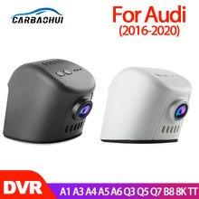 Для Audi A1 A3 A4 A5 A6 A7 Q3 Q5 Q7 B8 8K TT 2016 2017 2018 2019 2020 Видеорегистраторы для автомобилей Wi-Fi видеокамера с Регистраторы Dash Cam Камера с разрешением full HD