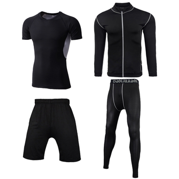 Men Sportswear Compression Sport Suits Quick Dry Running Sets Clothes Sports Joggers Training Gym Fitness Tracksuits Running Set 13