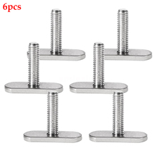 6pcs Water-Skiing Mini Hardware Canoe Boat Rails Bolts Watercraft Fishing Tool Easy Use Kayak Screws Stainless Steel Accessories