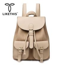 LIKETHIS Women Backpack Waterproof Large Female Shoulder Bag Capacity Simple Style Casual 2019 Bags Anti-theft School Girl