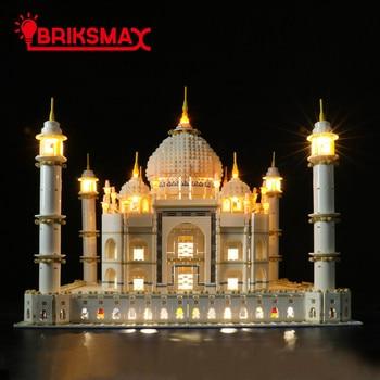 BriksMax Led Light Kit For 10256 Creator Taj Mahal Building Blocks Model Light Set Compatible With 10189/17001/17008 fit 10256