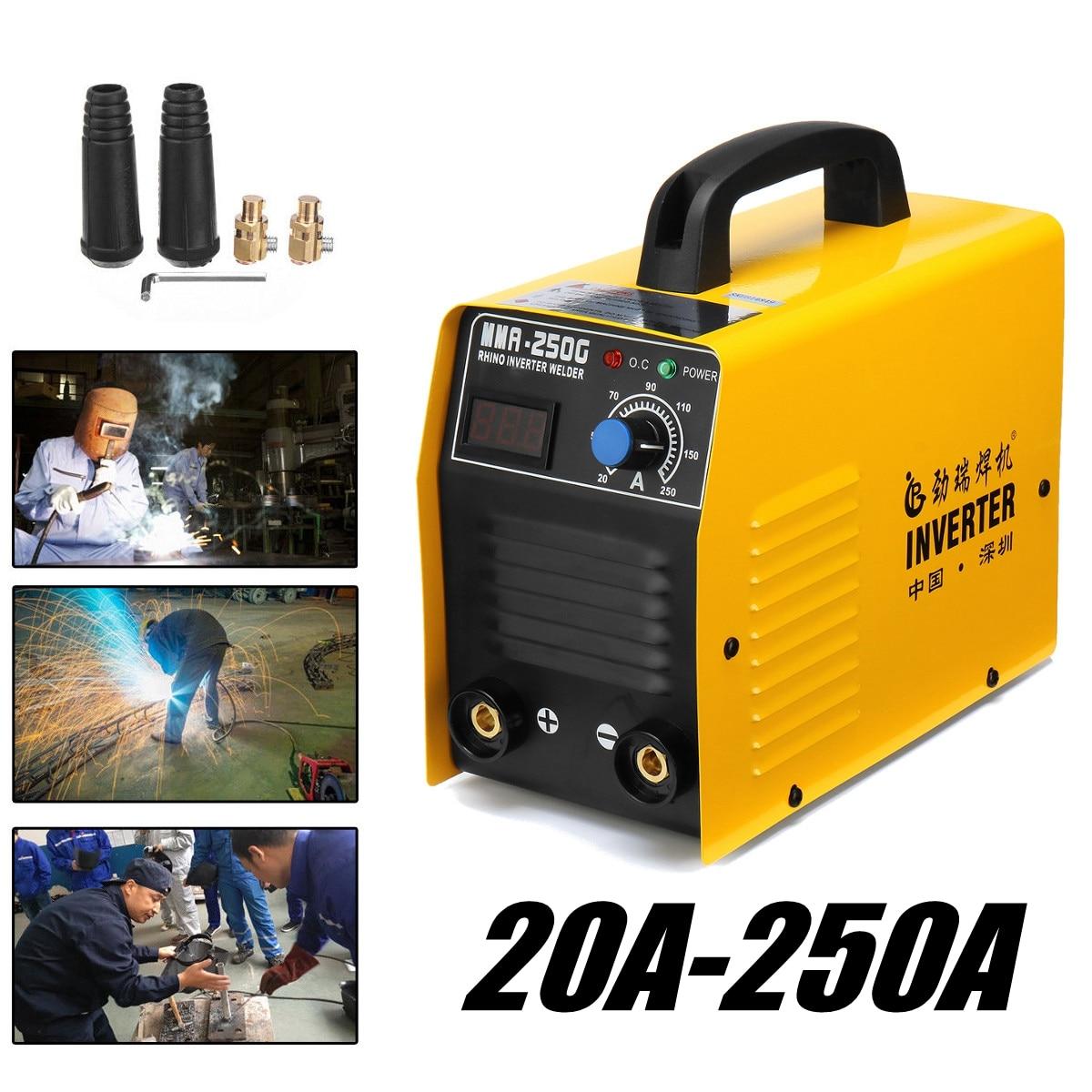 20-250A 25KVA IP21 Inverter Arc Electric Welding Machine IGBT/MMA/ARC/ZX7 Welder For Welding Electric Working Digital Display