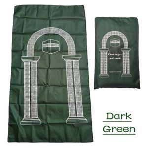 Image 4 - Draagbare Moslim Gebedskleed Waterdichte Pu Gevlochten Mat Gewoon Print Pouch Reizen Thuis Deken 60x100CM