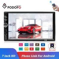 Podofo-autorradio 2Din para coche, reproductor Multimedia de 7