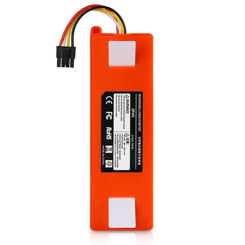 6500 mah li-ion 14.4 v bateria recarregável para xiaomi mi robô aspirador de pó roborock s50 s51 frete grátis