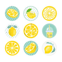 180pcs Baby Shower Lemons Stickers Lemon Party Decorations Invitation Envelope Stickers Candy Dessert Gifts Packaging Stickers