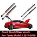 4 шт. автомобильный передний задний багажник поддержка капота передний/автоматический задний багажник стойки поддержка подъемников для Tesla...