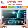 New Arrival 10.1 inch Tablet Pc Octa Core 4G LTE Phone Android 10.0 Brand Google Play Dual SIM Card WiFi Bluetooth GPS Tablets