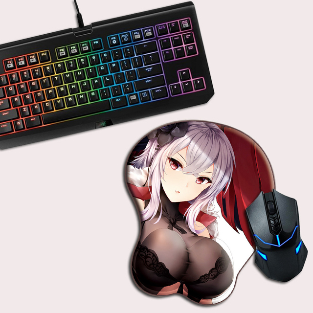 FFFAS 3D Mouse Pad Mat Sexy Breast Oppai Busty Boob Japan Anime Girl Miku Gamer Gaming Wrist Rest Mousepad for Notebook PC