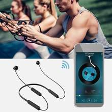 HBQ-BX Outdoor Sports Bluethooth Earphones Neck Hanging Headphone Earbuds(China)