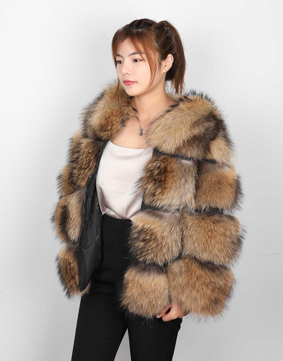 Invierno 2019 nuevo abrigo de piel de zorro natural sección corta cálido grueso chaqueta de piel auténtica de zorro de moda de lujo abrigo de piel real Delgado mujeres