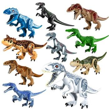 Jurassic Brutal Raptor Building Blocks Compatible With Block Dinosaur Bricks Tyrannosaurus Indominus I-Rex Assemble Toy jurassic dinosaur park indominus rex diy blocks dinosaurs tyrannosaurus rex tiny models building block kids toys creator animals