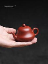 Yixing szkic 110ml Li Heping dahongpao czajniczek kung fu rudy mały garnek trąbka zestaw herbaty junde pot tanie tanio WIZAMONY CN (pochodzenie) 100-149 ml Fioletowy gliny Purple clay 101mL (inclusive) -200mL (inclusive) Chinese Yixing City