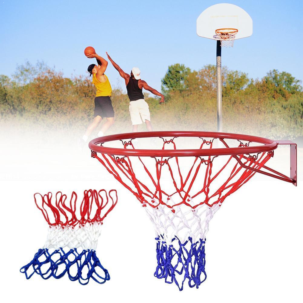 6 Mm Basketball Rim Mesh Net Durable Basketball Net Standard Goal Mesh Rim Rims Duty Fits Hoop Basketball Heavy Nylon Net A7G8