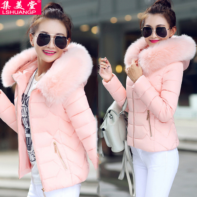 Short Slim Fit Down Jacket Cotton-padded Clothes Women Jacket Thick Small Korean-style Sale Cotton-padded Clothes White Off Seas