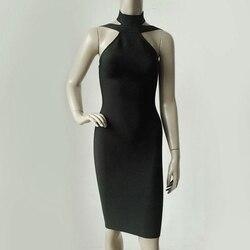 2017 новое летнее модное женское облегающее платье бодикон без рукавов сексуальное однотонное вечернее короткое мини-платье 3 цвета популярн... 3