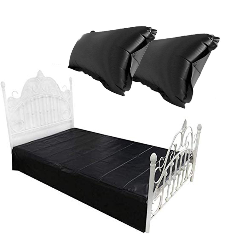 <font><b>PVC</b></font> Plastic Bed <font><b>Sheets</b></font> Game Waterproof Cover With Pair Of Waterproof Pillows Full Queen King Bedding <font><b>Sheets</b></font> Set Adult Sex Toys image