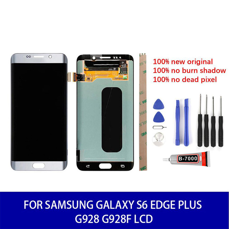 <font><b>Original</b></font> For <font><b>Samsung</b></font> Galaxy <font><b>S6</b></font> <font><b>Edge</b></font> Plus G928 G928F LCD <font><b>Display</b></font> Touch Replacement Parts Tools With Frame 100% Test High Quality image