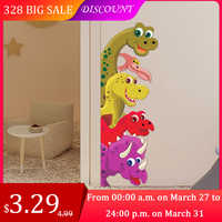 Funny Probe Dinosaur Behind the door Room Decor Wall Decals Stickers Children Nursery Kids Bedroom Living Room Mural Wall Art