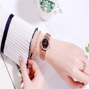 Watch women quartz wristwatches Stainless steel ladies watches brand luxury watch fashion waterproof rose gold Mesh belt clock womage origin luxury brand unisex watches rose gold case watch wrist relogios quartz women dress wristwatches day date clock